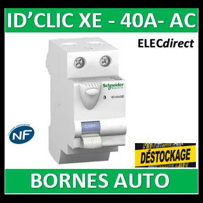 SCHNEIDER - Inter différentiel  D'CLIC XE 2P - 40A - 30ma - Type AC - 16160  (1 DISPO)