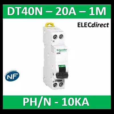 SCHNEIDER - Disjoncteur Ph/N 20A DT40N - 10KA - SCHA9N21367