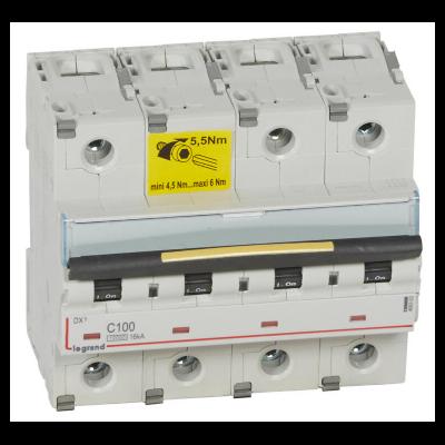 Legrand - Disjoncteur - 100A 4P 16kA - courbe C - 6M - 409363