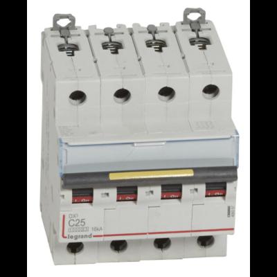Legrand - Disjoncteur 4P 16kA - courbe C - 25A - 409357