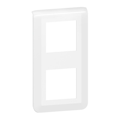 Legrand Plaque de finition Mosaic pour 2 modules blanc 078822L