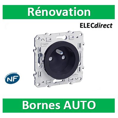 Schneider Odace - Prise de courant Rénovation ANTHRACITE - 2P+T 16A - 250V - S540049