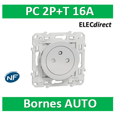 Schneider Electric - Prise 2P+T affleurante ALU- S530052