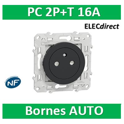 Schneider Electric - Prise 2P+T affleurante ANTHRACITE- S540052
