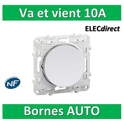 Schneider Odace - Va-et-Vient ALU - 10A - 250V - s530204