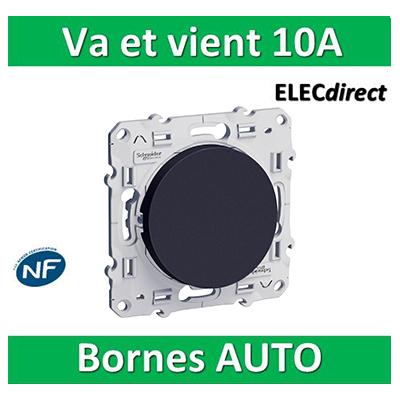 Schneider Odace - Va-et-Vient ANTHRACITE - 10A - 250V - s540204