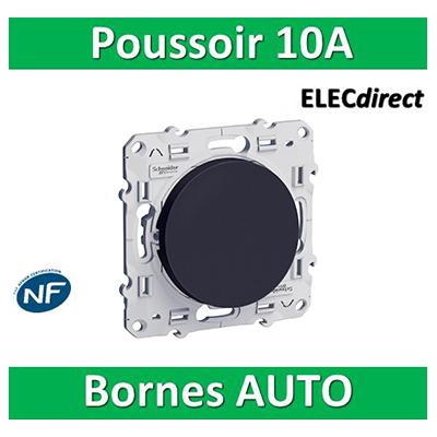 Schneider Odace - Bouton poussoir ANTHRACITE - 10A - 250V - S540206