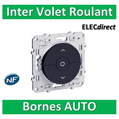 Schneider Odace - Interrupteur volets-roulant montée/descente/stop ANTHRACITE - S540208