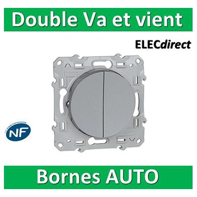 Schneider Odace - Double Va-et-vient ALU- 10A - 250V - s530214