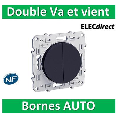 Schneider Odace - Double Va-et-vient ANTHRACITE - 10A - 250V - S540214
