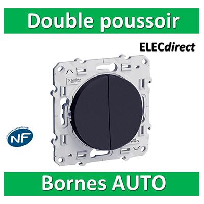 Schneider Odace - Double Poussoir 10A ANTHRACITE - 250V - s540216