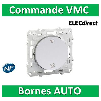 Schneider Odace - Interrupteur VMC 2 positions ALU - s530233