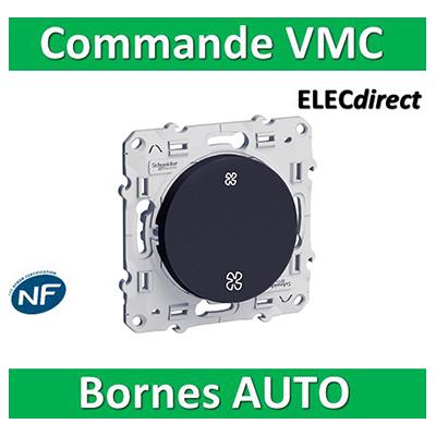 Schneider Odace - Interrupteur VMC 2 positions ANTHRACITE - s540233