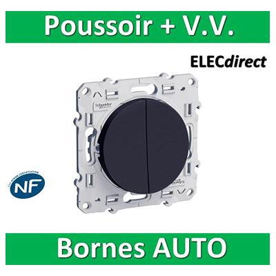 Schneider Odace - Va-et-vient + poussoir 10A ANTHRACITE - 250V - s540285