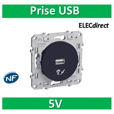 Schneider Odace - Prise USB 5V ANTHRACITE- s540408
