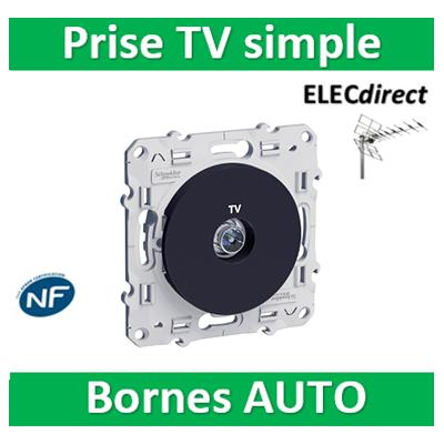 Schneider Odace - Prise TV simple ANTHRACITE - s540445