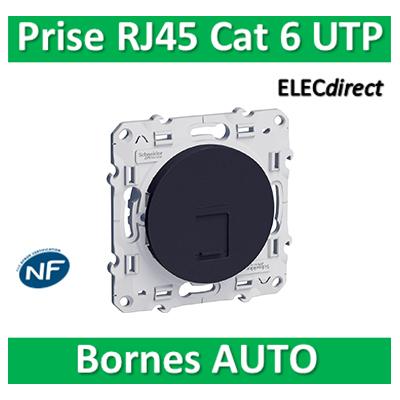 Schneider Odace - Prise RJ45 Cat.6 UTP ANTHRACITE- s540475