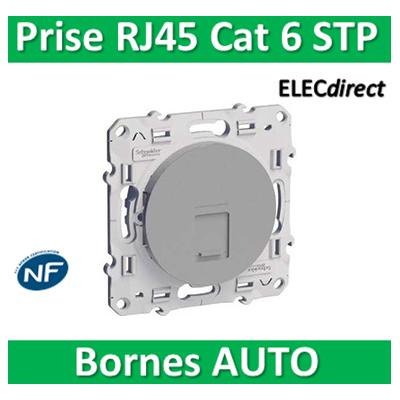 Schneider Odace - Prise RJ 45 cat 6 STP Grade 3 ALU - s530476