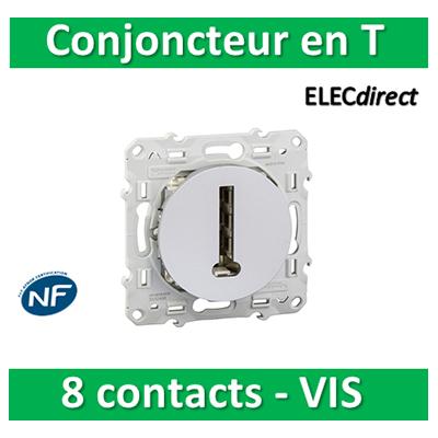 Schneider Odace - Conjoncteur en T - 8 contacts ALU - s530496
