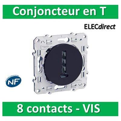 Schneider Odace - Conjoncteur en T - 8 contacts ANTHRACITE - s540496
