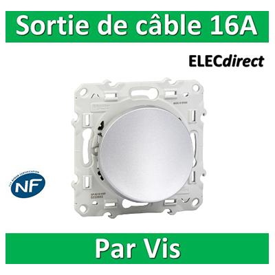 Schneider Odace - Sortie de câble - Fixation VIS ALU - s530662