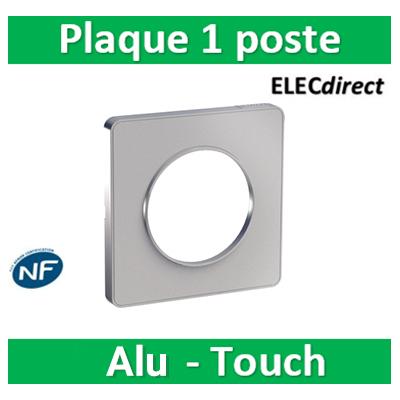 Schneider Odace - Plaque 1 poste - ALU Touch- s530802