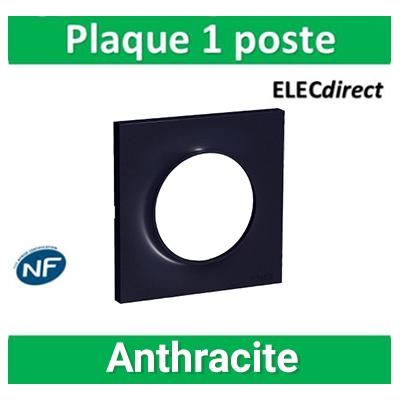 Schneider Odace - Plaque 1 poste - ANTHRACITE Touch- s540702