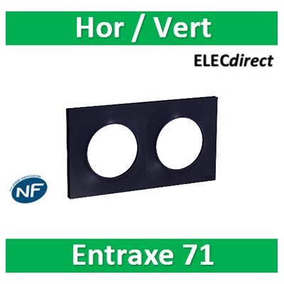 Schneider Odace - Plaque 2 postes entraxe 71 mm - Hor/vert ANTHRACITE - S540704