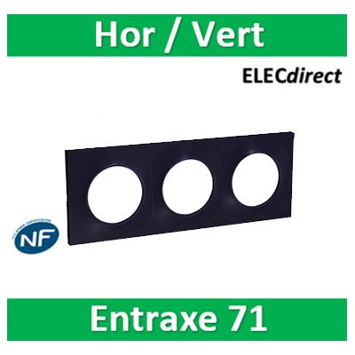 Schneider Odace - Plaque 3 postes entraxe 71 mm - Hor/vert ANTHRACITE - s540706