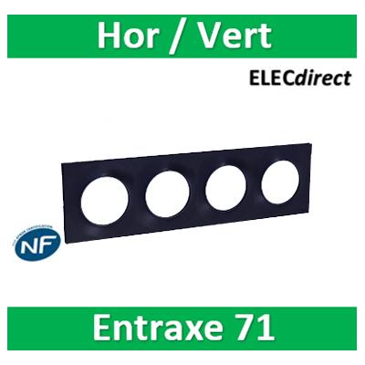 Schneider Odace - Plaque 4 postes entraxe 71 mm - Hor/vert ANTHRACITE - s540708