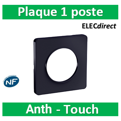 Schneider Odace - Plaque 1 poste - ANTHRACITE Touch- s540802