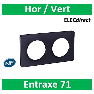 Schneider Odace - Plaque 2 postes entraxe 71 mm - Hor/vert - ANTHRACITE Touch - s540804