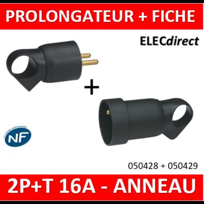 Legrand - Fiche + prolongateur - 050428 + 050429