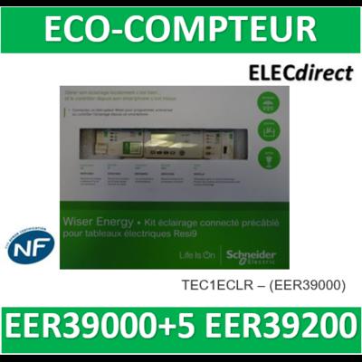 SCHNEIDER -kit éclairage inclus EER39000 avec 5 tores EER39200-pour tableaux Resi9 - KIT1ECLR