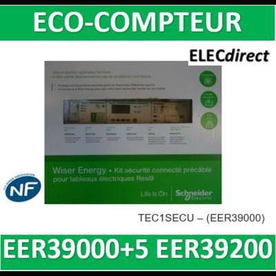 Schneider - Wiser Energy - kit sécurité inclus EER39000 avec disjoncteur diff connecté - KIT1SECU