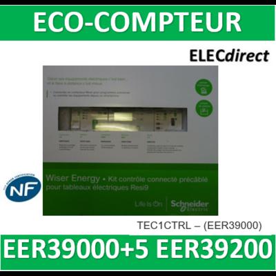 SCHNEIDER -kit contrôle inclus EER39000 avec 5 tores EER39200-pour tableaux Resi9 - KIT1CTRL