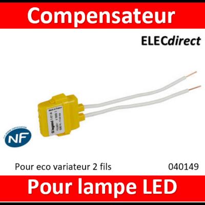 Legrand - Compensateur actif pour commandes éclairage 2 fils sans neutre - 040149