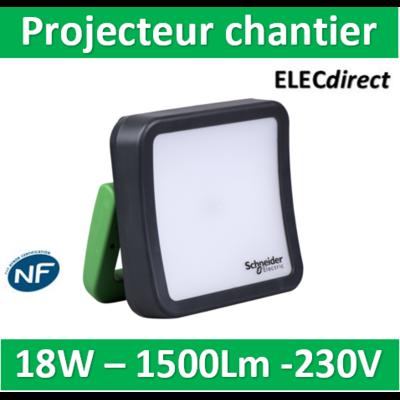 Schneider - Projecteur chantier 18W 1500Lm - IMT33096