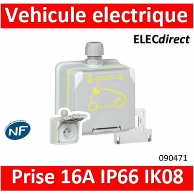 Legrand - Prise saillie étanche Green'up Access pour véhicule électrique - Modes 1 ou 2 - IP66 IK08 - 16A 230V - 090471