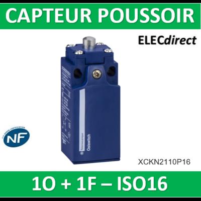 Schneider - Inter. de pos. - poussoir métal -1O+1F- brusque - M16 - XCKN2110P16