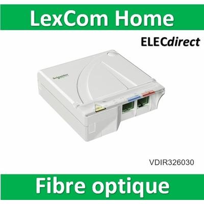 Schneider - LexCom Home Dispositif Terminaison Intérieur Optique équipé 2 traversées SC/APC - VDIR326030