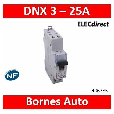 LEGRAND - DISJONCTEUR LEGRAND DNX3 PH/N 25A - AUTO/AUTO - 406785