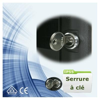 Digital Electric - Serrure à clé pour coffrets étanche - IP55