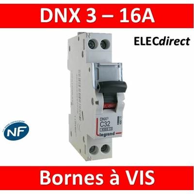 DISJONCTEUR LEGRAND DNX3  PH/N- 16A - VIS/VIS - 406774