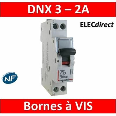 DISJONCTEUR LEGRAND DNX3 PH/N - 2A - VIS/VIS - 406771