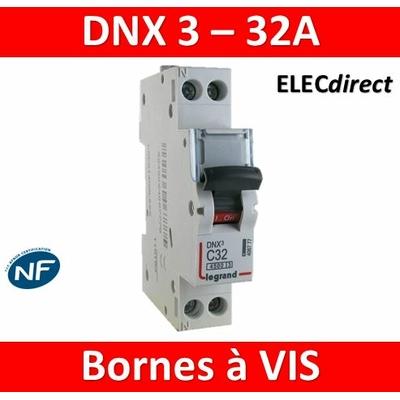 DISJONCTEUR LEGRAND DNX3 PH/N - 32A - VIS/VIS - 406777