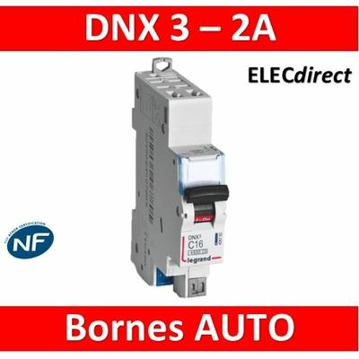 DISJONCTEUR LEGRAND DNX3 PH/N 2A - AUTO/AUTO - 406780
