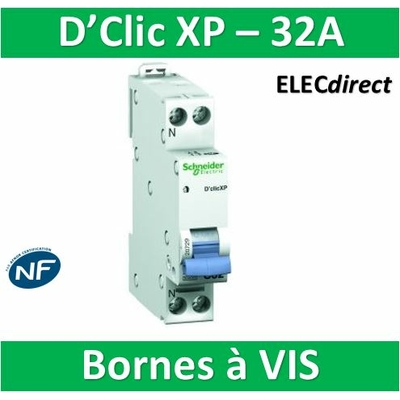 SCHNEIDER DISJONCTEUR DUOLINE D'CLIC XP - 32A - VIS/VIS - 20729