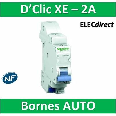 SCHNEIDER DISJONCTEUR DUOLINE D'CLIC XE - 2A - EMBROCHABLE - 16724