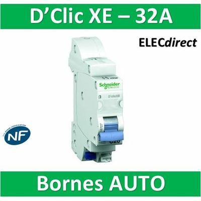 SCHNEIDER DISJONCTEUR DUOLINE D'CLIC XE - 32A - EMBROCHABLE - 16729